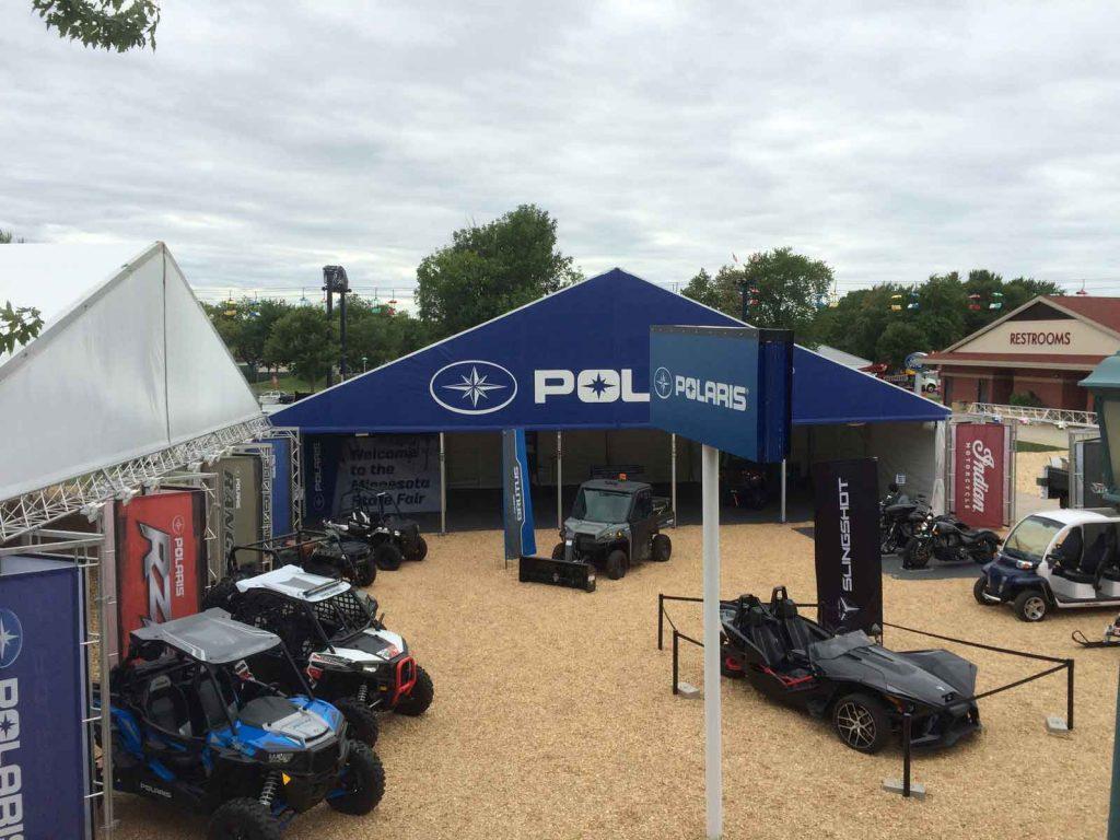 polaris trade show display