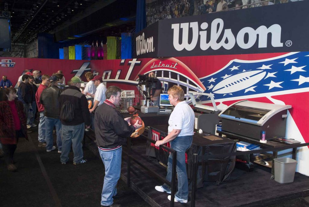 Wilson Sporting Goods trade show display